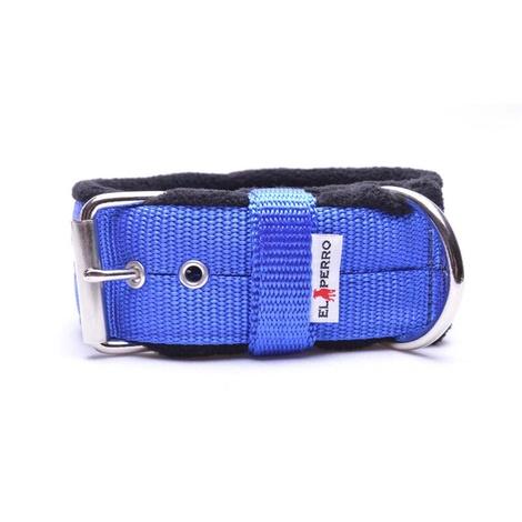 4cm Width Fleece Comfort Dog Collar – Royal Blue