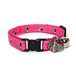 Pink Bumblebees Satefy Cat Collar