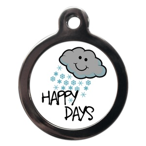 Happy Snowy Days Dog ID Tag