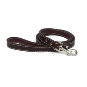 The Paws Pet Supplies - Traditional Plain Brown Leather Dog Lead