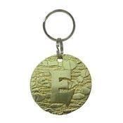 The Pet Jeweller - Alphabet Dog ID Tag - Plain brass on textured brass