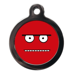 Funny Red Face Dog ID Tag