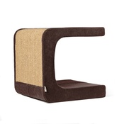 Catworks - Scratching Post - Letter C - Brown