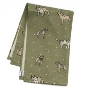 Mutts & Hounds - Dogs Linen Tea Towel - Green