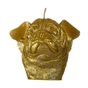 Pugs Might Fly - Winged Pug Candle - Gold