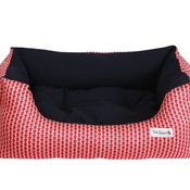 Teddy Maximus - Red Liberty Print Slumber Bed by Teddy Maximus