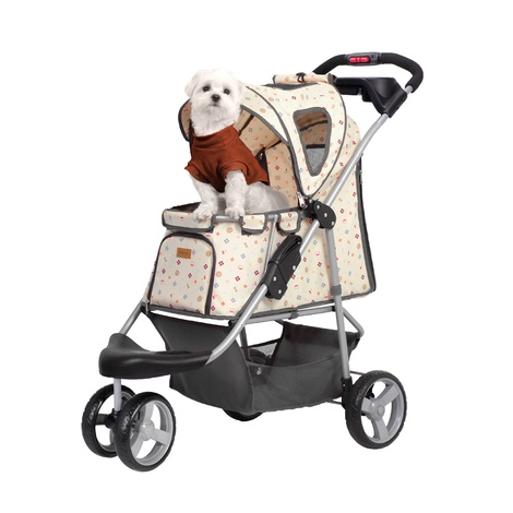 Precious Monogram Dog Buggy