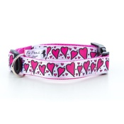 "Pet Pooch Boutique - Graffiti Hearts Collar  1"" Width"