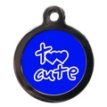 Blue Too Cute Dog ID Tag