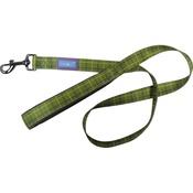 Hem & Boo - Check Padded Handle Dog Lead - Green