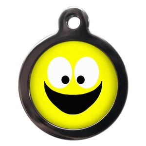 Smiley Face Pet ID Tag