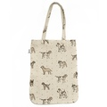 Dogs Linen Tote Bag - Natural