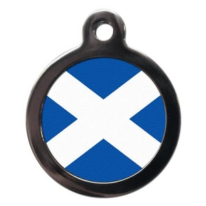 St Andrews Flag Pet ID Tag