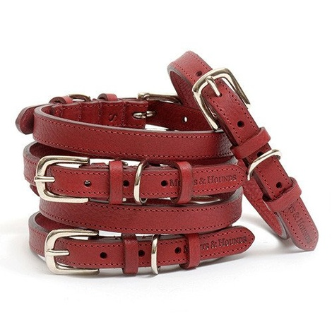 Grape Leather Dog Collar 2