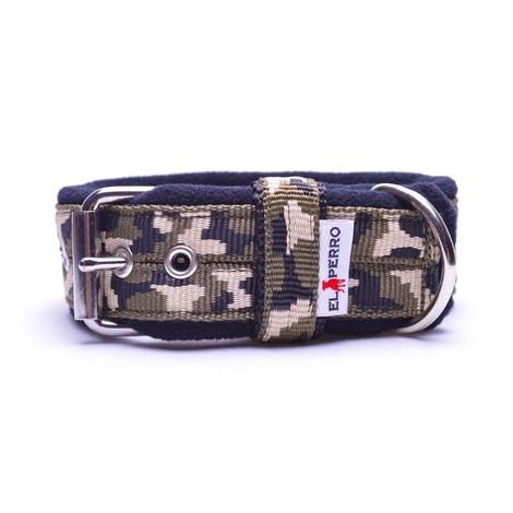 4cm width Fleece Comfort Dog Collar - Jungle Camo