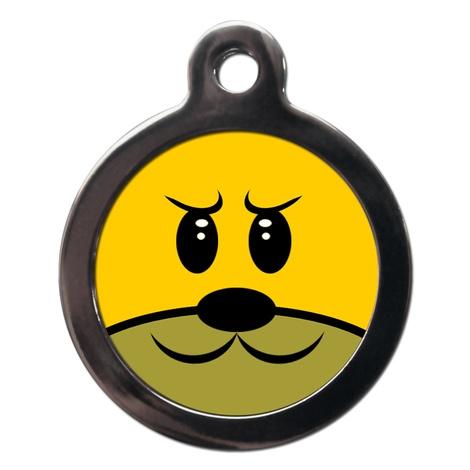 Grumpy Doggie Face Dog ID Tag