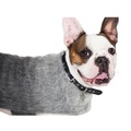 Luxury Grey Mohair Dog Coat 3