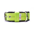 4cm width Fleece Comfort Dog Collar - Neon Green