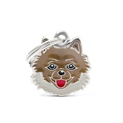 My Family - Pomeranian Engraved ID Tag