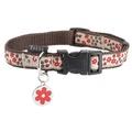 Flower Dog Collar - Red