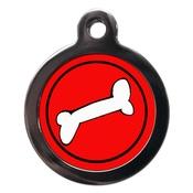 PS Pet Tags - Bone Pet ID Tag - Red