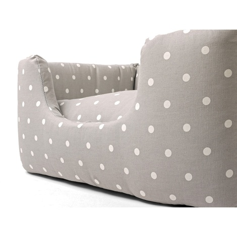 Deeply Dishy Luxury Dog Bed - Dotty Dove Grey 4