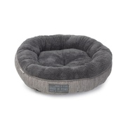 House of Paws - Grey Hessian Donut Cat Bed
