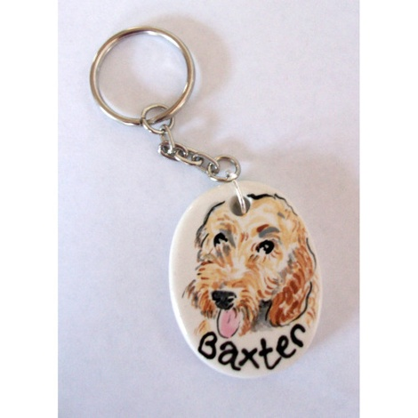 Personalised Portrait Keyring or Bag Charm 4