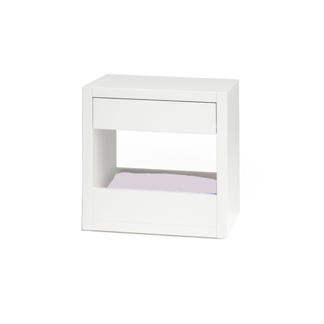 Bloq Pet Bed & Side Table - White 9