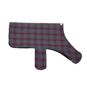 PetsPyjamas - Personalised Blue & Red Check Dog Coat