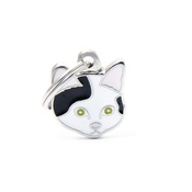 My Family - Cat Engraved ID Tag – Black & White