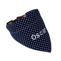 Personalised Dog Bandana – Navy & White Polka Dot