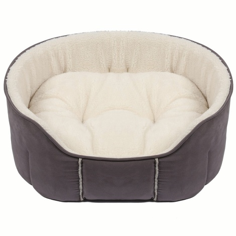 Kudos Fairmont Oval Pet Bed in Grey