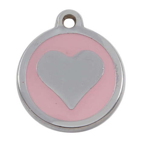My Sweetie Light Pink Heart Pet ID Tag