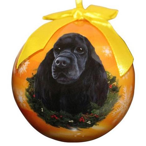 Black Cocker Spaniel Christmas Bauble