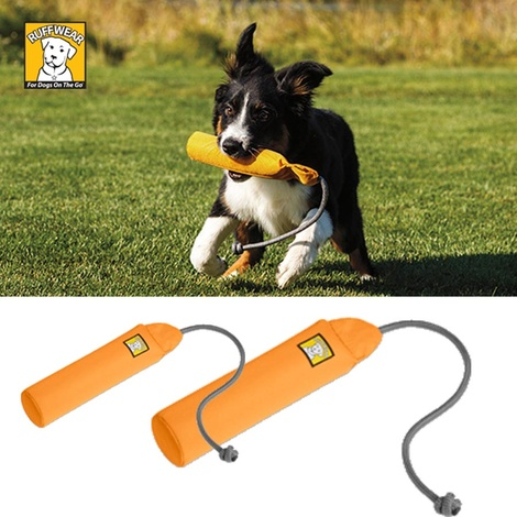 Ruffwear Lunker Dog Toy - Campfire Orange 4