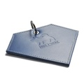 Leather Diamond Poo Bag Pouch - Navy