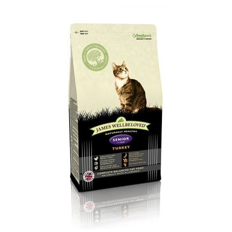 Turkey & Rice Senior Dry Food Cat Food