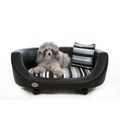 Oxford 2 Leather Pet Bed - Moonlight Black 4
