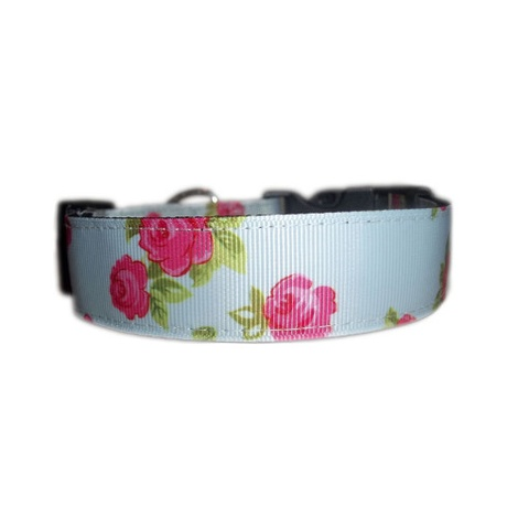 Vintage English Rose Dog Collar