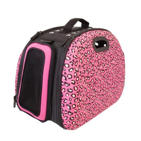 Collapsible Carrier Deluxe - Leopard Print