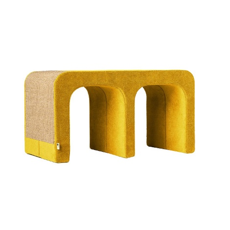 Scratching Post - Letter M - Yellow