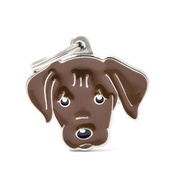 My Family - Labrador Engraved ID Tag – Chocolate