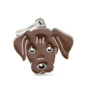 My Family - Labrador Engraved ID Tag – Chocolate