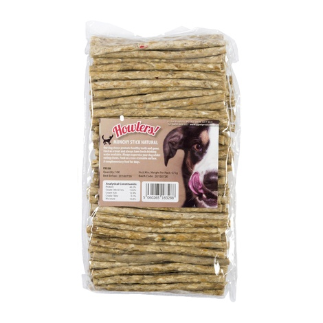 Howlers Natural Munchy Rawhide Sticks