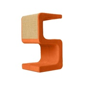 Catworks - Scratching Post - Letter S - Orange