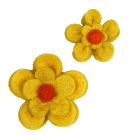 Bloom Dog Collar Flower Accessory - Yellow & Amber 4