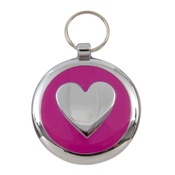 Tagiffany - Smarties Pink Heart Pet ID Tag