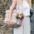 Macaroon Check Tweed Dog Carrier 3