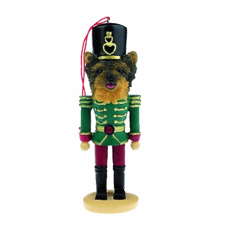 Yorkshire Terrier Puppy Nutcracker Soldier Ornament
